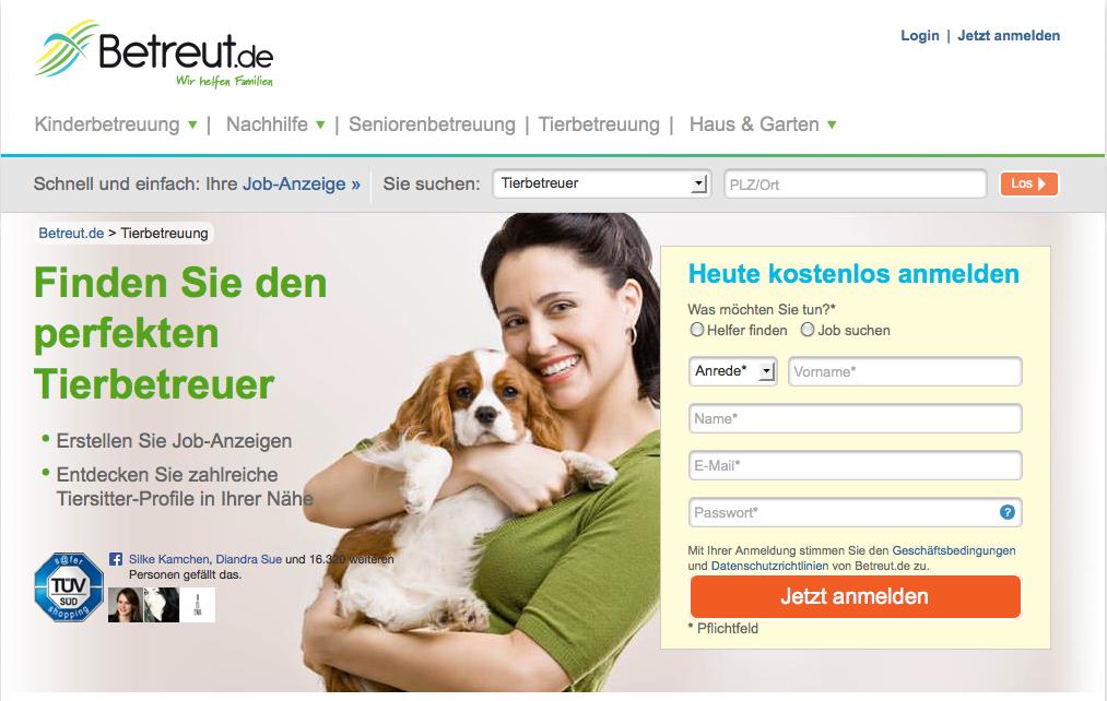 Betreut.de - Screenshot