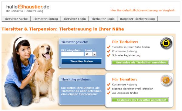 hallohaustier.de - Screenshot
